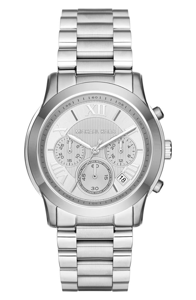 MICHAEL MICHAEL KORS 'Cooper' Chronograph Bracelet Watch,39mm, Main, color, 040