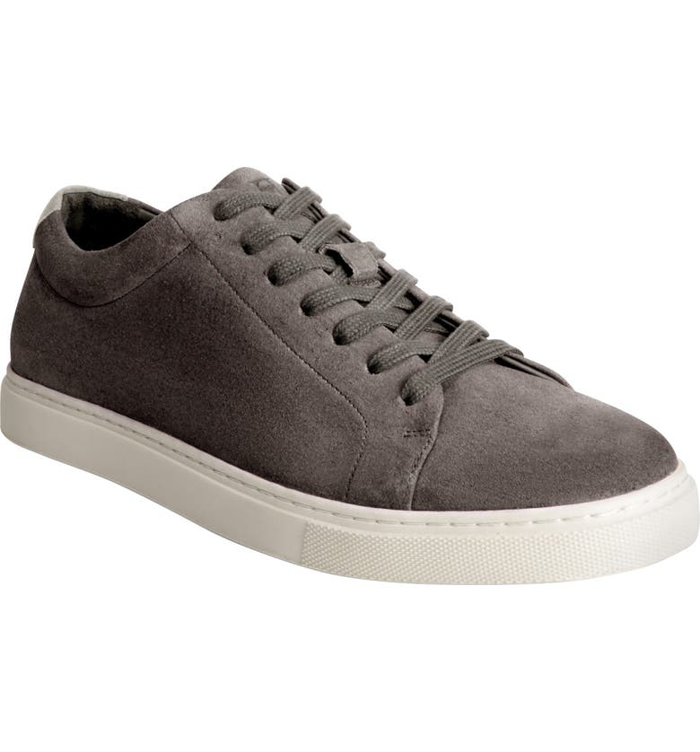 ALLEN EDMONDS Canal Court Sneaker, Main, color, GREY SUEDE