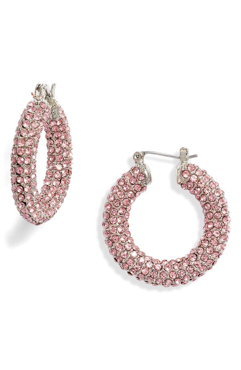 8 OTHER REASONS x Jill Jacobs Pavé Hoop Earrings, Main, color, 650