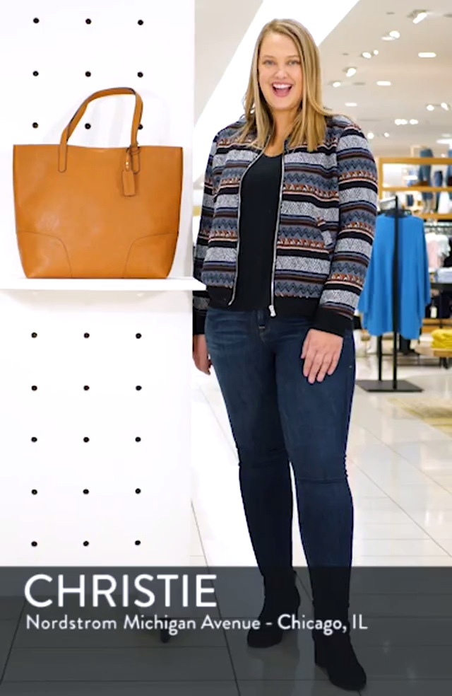 Lilyn Faux Leather Tote, sales video thumbnail