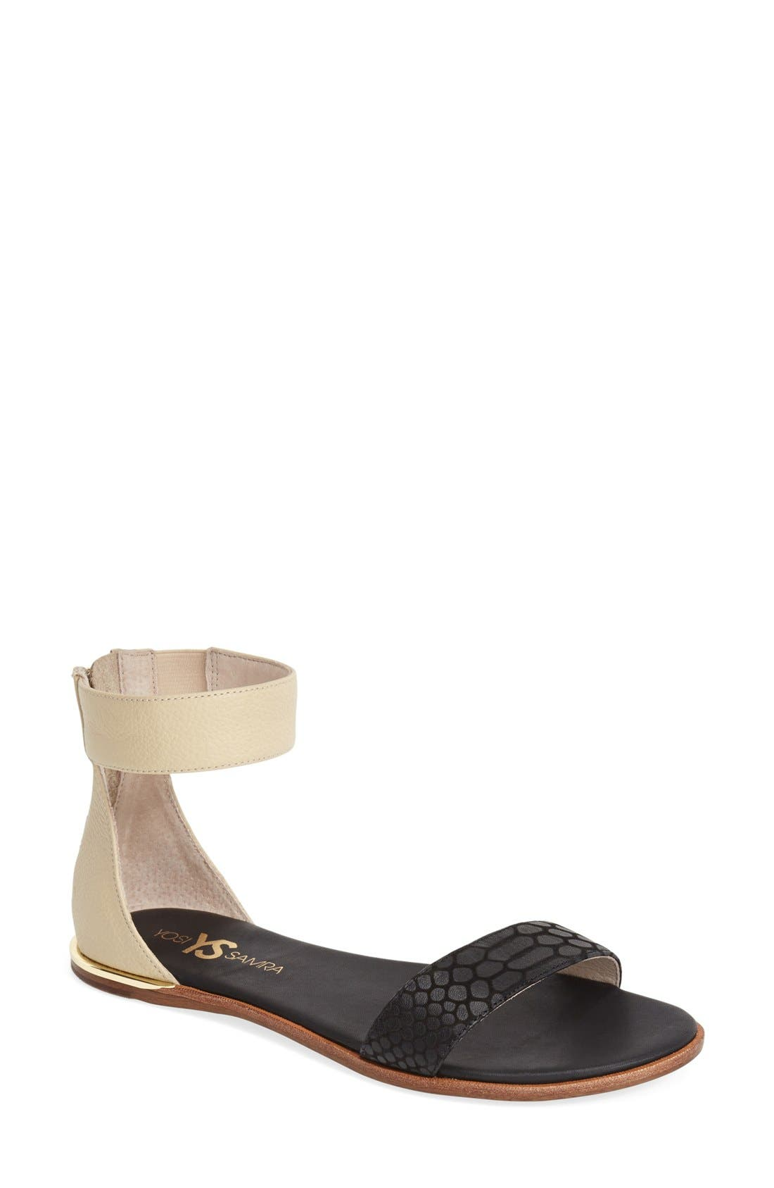 ,                             'Cambelle' Ankle Strap Sandal,                             Main thumbnail 5, color,                             003