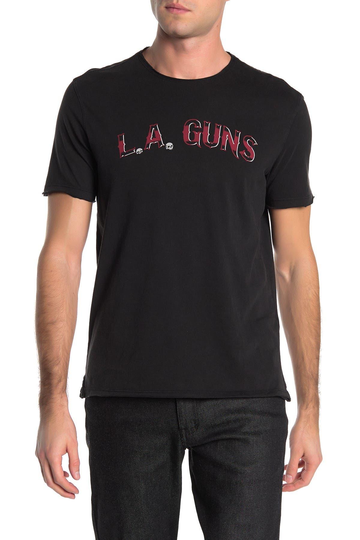 NWT JOHN VARVATOS MENS L.A GUNS LA GUNS TEE T-SHIRT BLACK