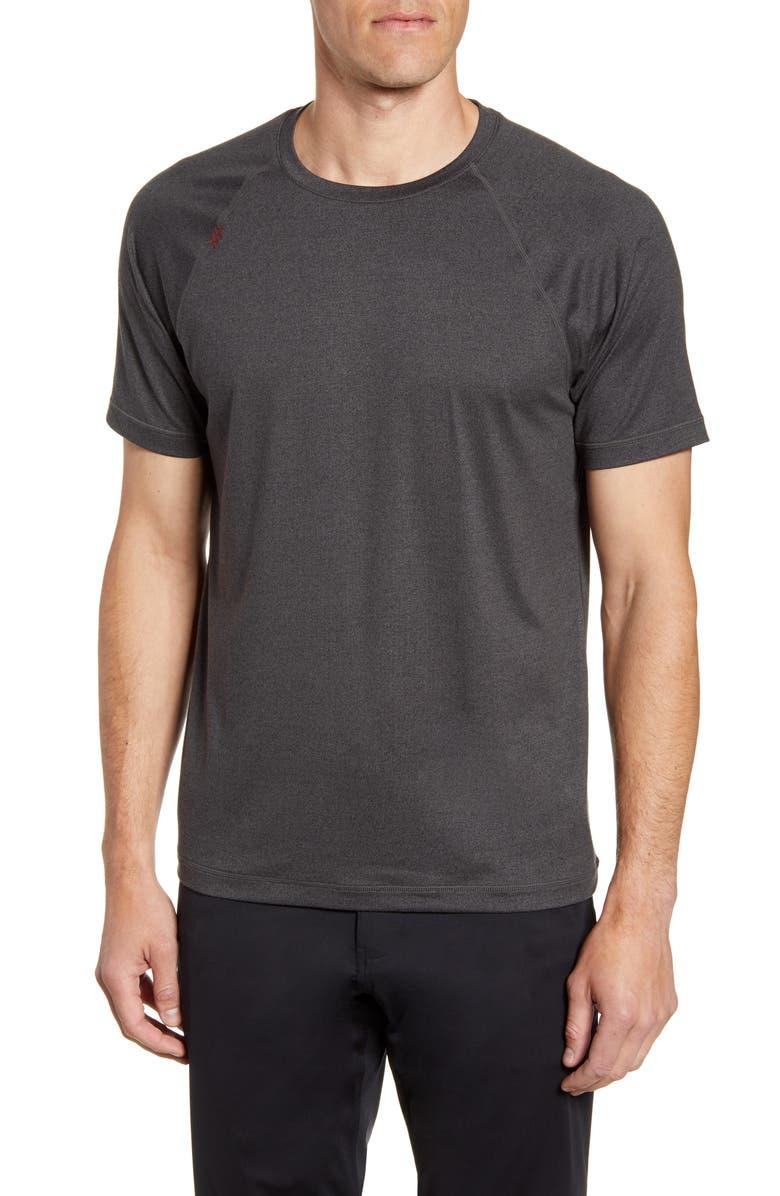 RHONE Reign Performance T-Shirt, Main, color, BLACK HEATHER