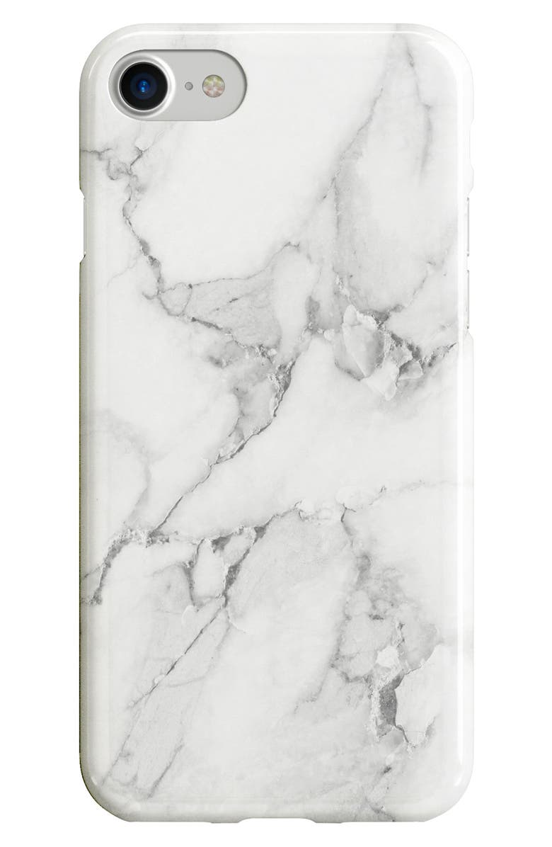 RECOVER White Marble iPhone 6/6s/7/8 & 6/6s/7/8 Plus Case, Main, color, WHITE MARBLE