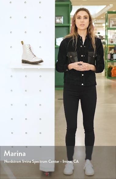 1460 Croc Embossed Boot, sales video thumbnail
