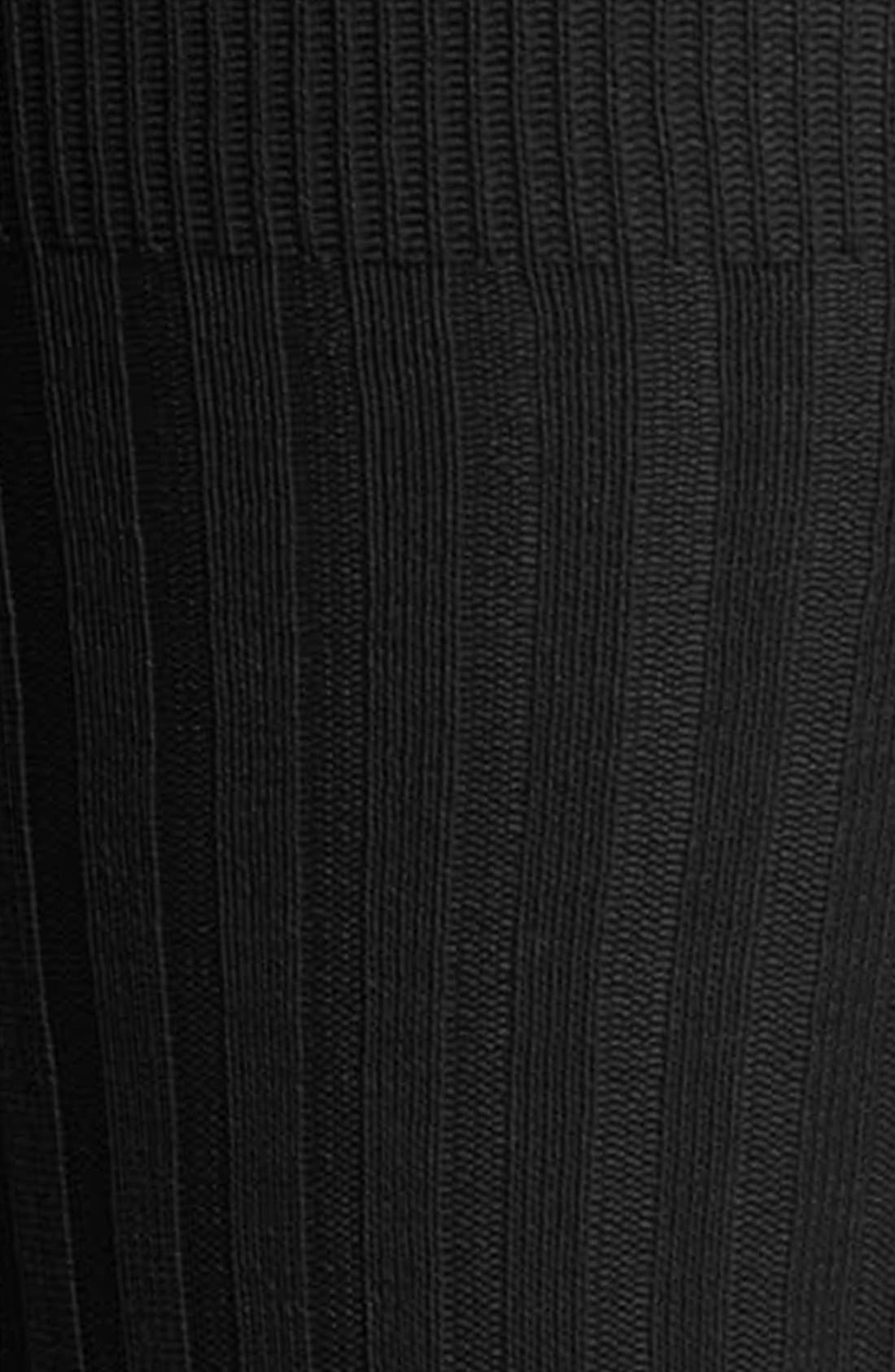 ,                             Cotton Blend Mid Calf Dress Socks,                             Alternate thumbnail 2, color,                             BLACK 08