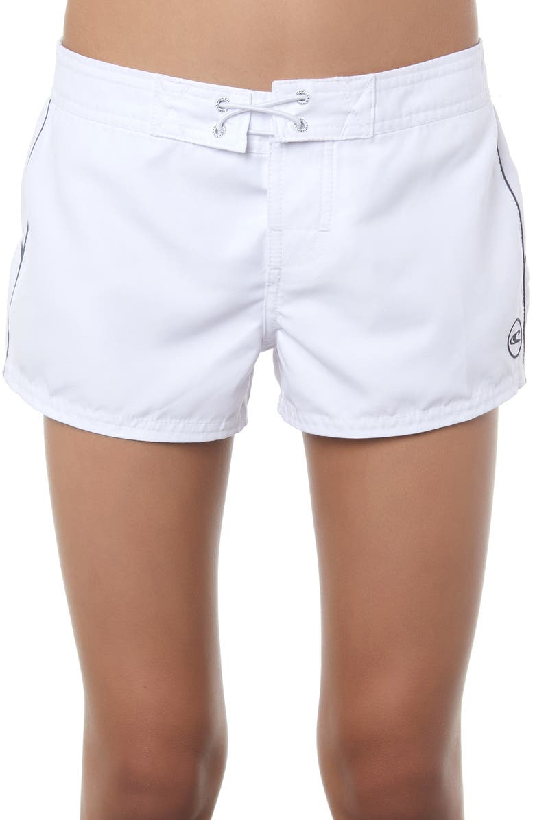 O'NEILL Saltwater Solids Board Shorts, Main, color, WHITE