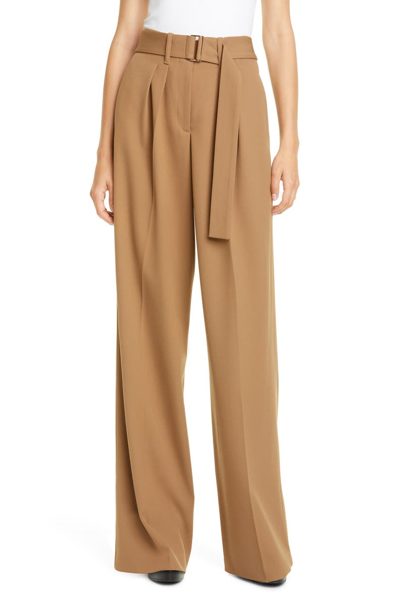 HILFIGER COLLECTION Wide Leg Cotton Blend Chino Pants, Main, color, 800