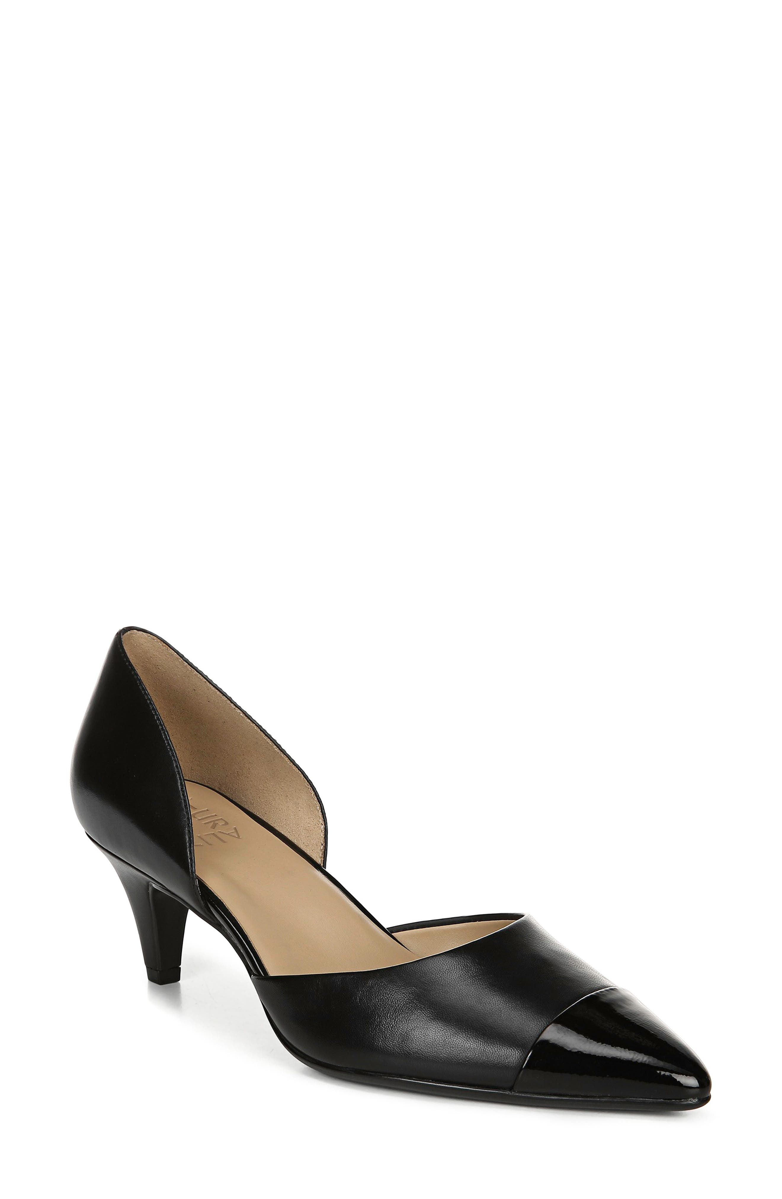 Naturalizer Barb Leather Pump N - Black
