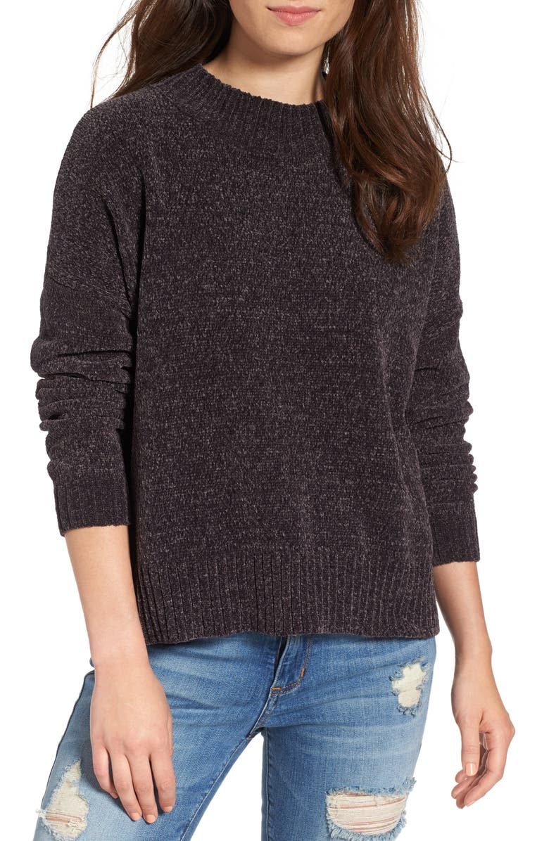 BP. Chenille Funnel Neck Sweater, Main, color, 021