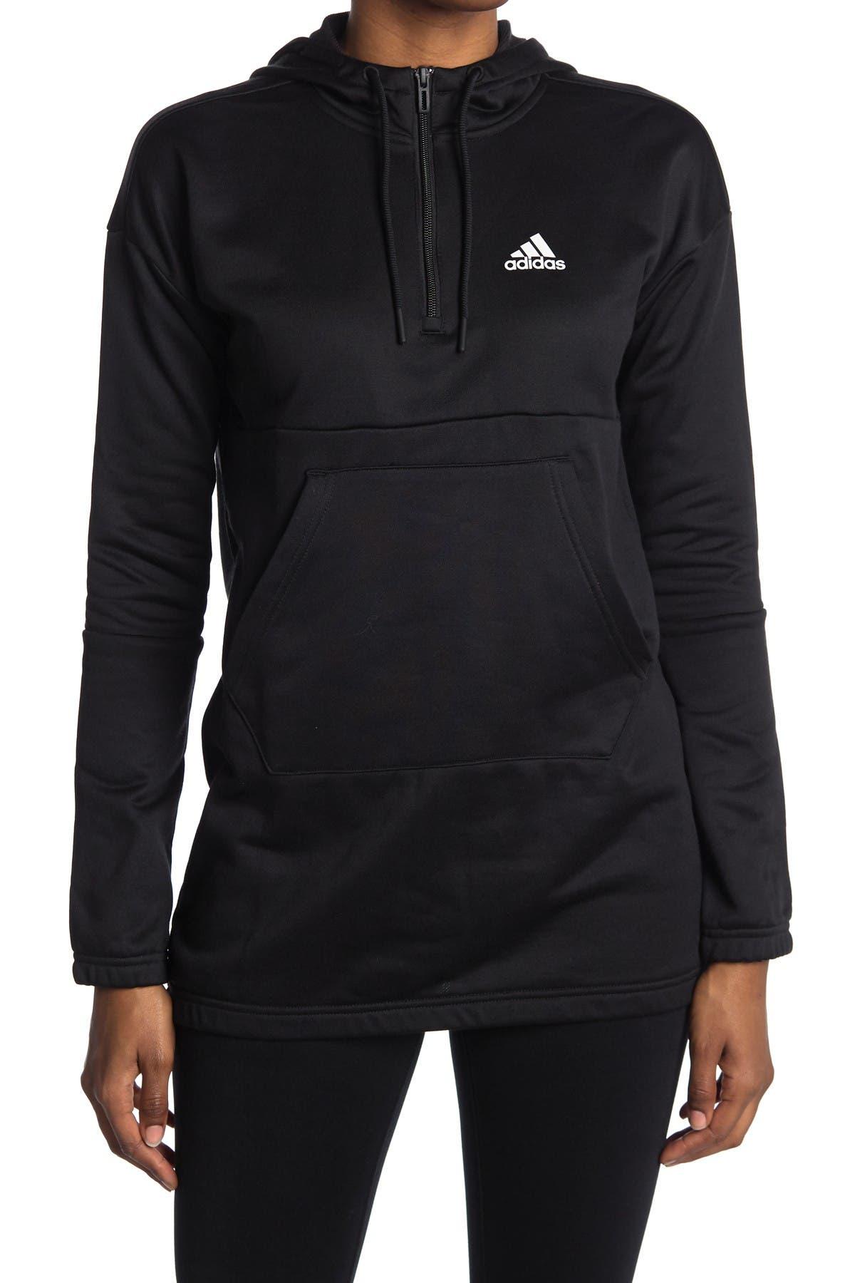 Image of adidas 3/4 Zip Long Line Hoodie