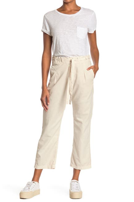 Image of NSF CLOTHING Keiko Tie Waist Crop Pleated Pants