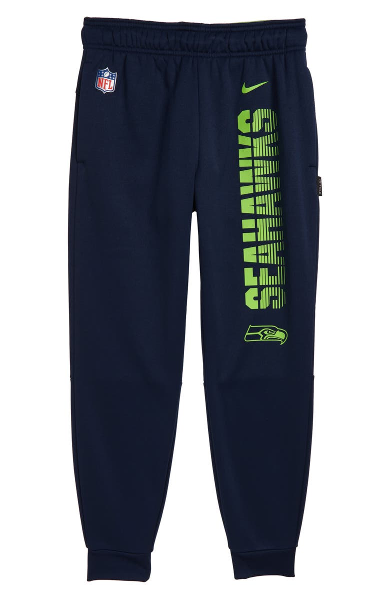 NIKE NFL Logo Seattle Seahawks Therma Dri-FIT Pants, Main, color, COLLEGE NAVY