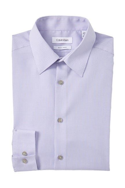 Image of Calvin Klein Checker Slim Fit Dress Shirt