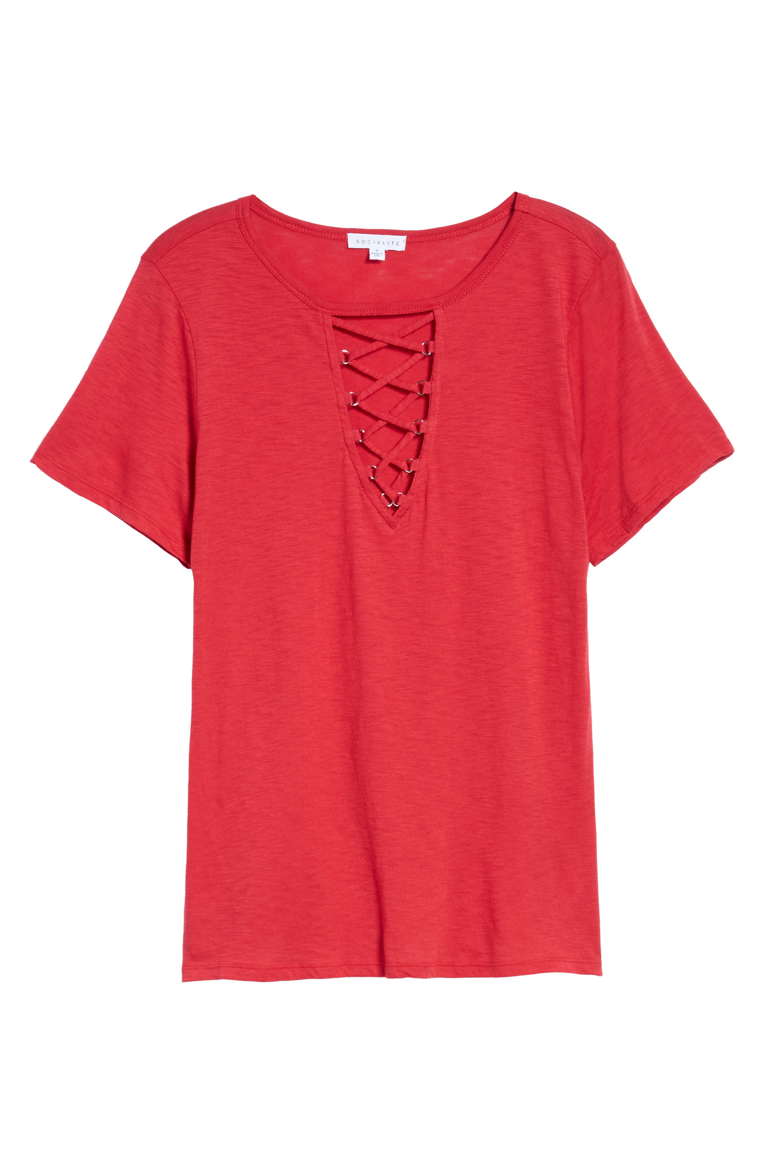 ,                             Grommet Lace-Up Tee,                             Alternate thumbnail 23, color,                             606