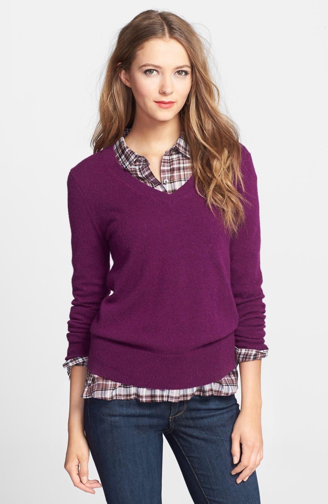 ,                             Cashmere V-Neck Sweater,                             Main thumbnail 64, color,                             501