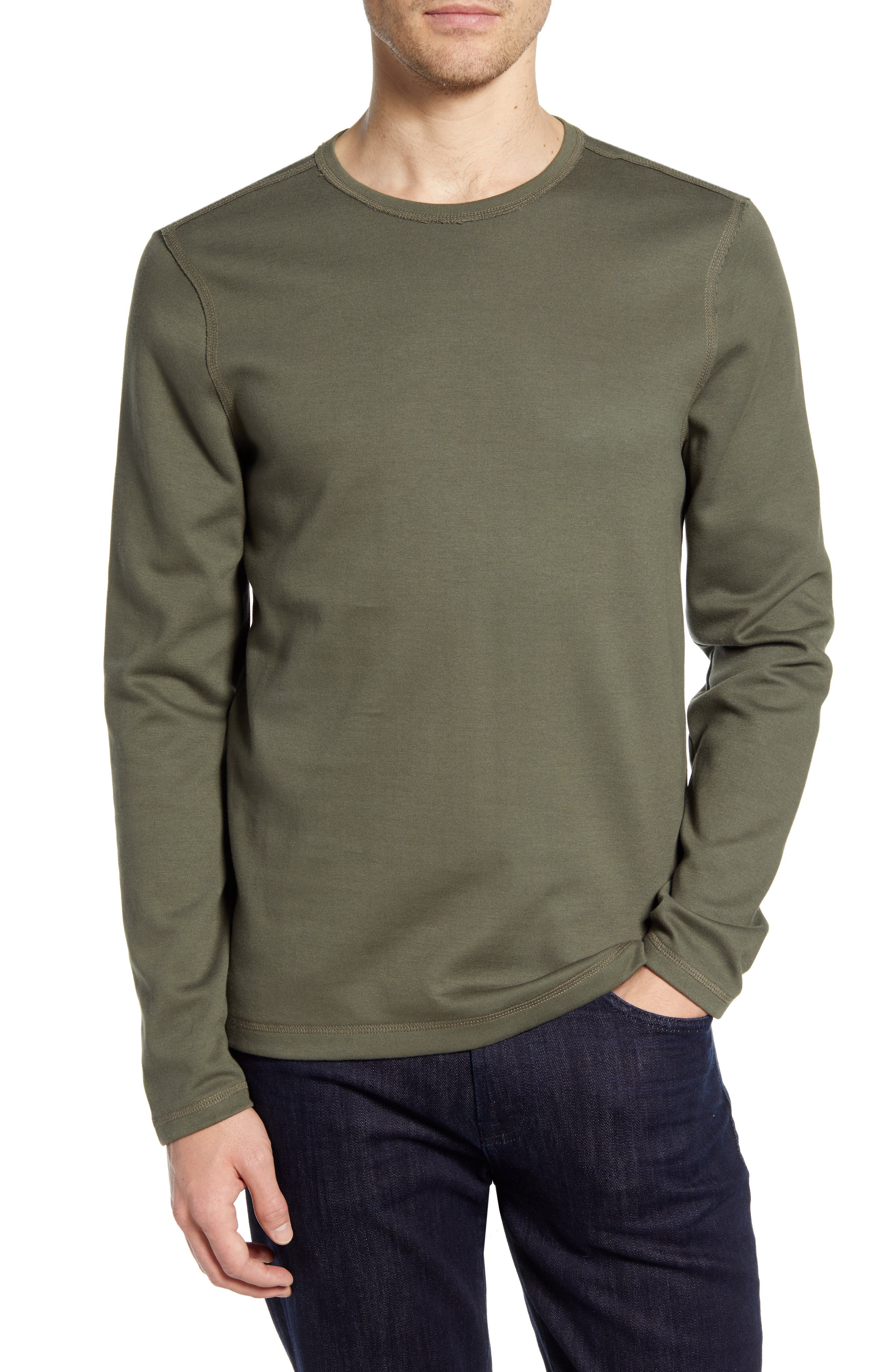 Image of 7 For All Mankind Milano Long Sleeve Slim T-Shirt