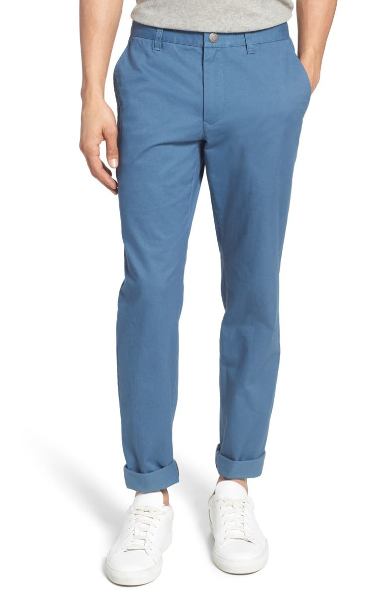 BONOBOS Slim Fit Stretch Washed Chinos, Main, color, JET BLUES