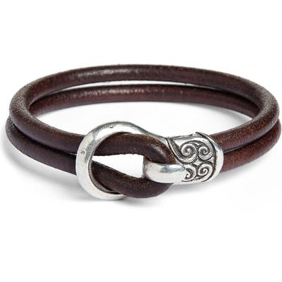 John Varvatos Leather Bracelet