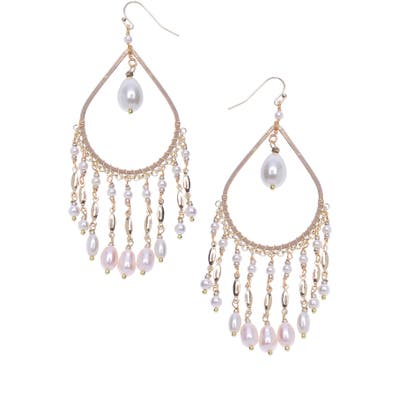 Nakamol Design Freshwater Pearl Teardrop Earrings