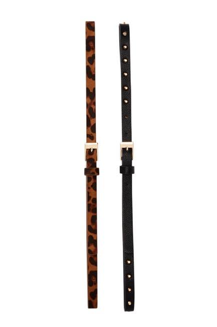 Image of Linea Pelle 2-for-1 Animal & Studded Belt Set