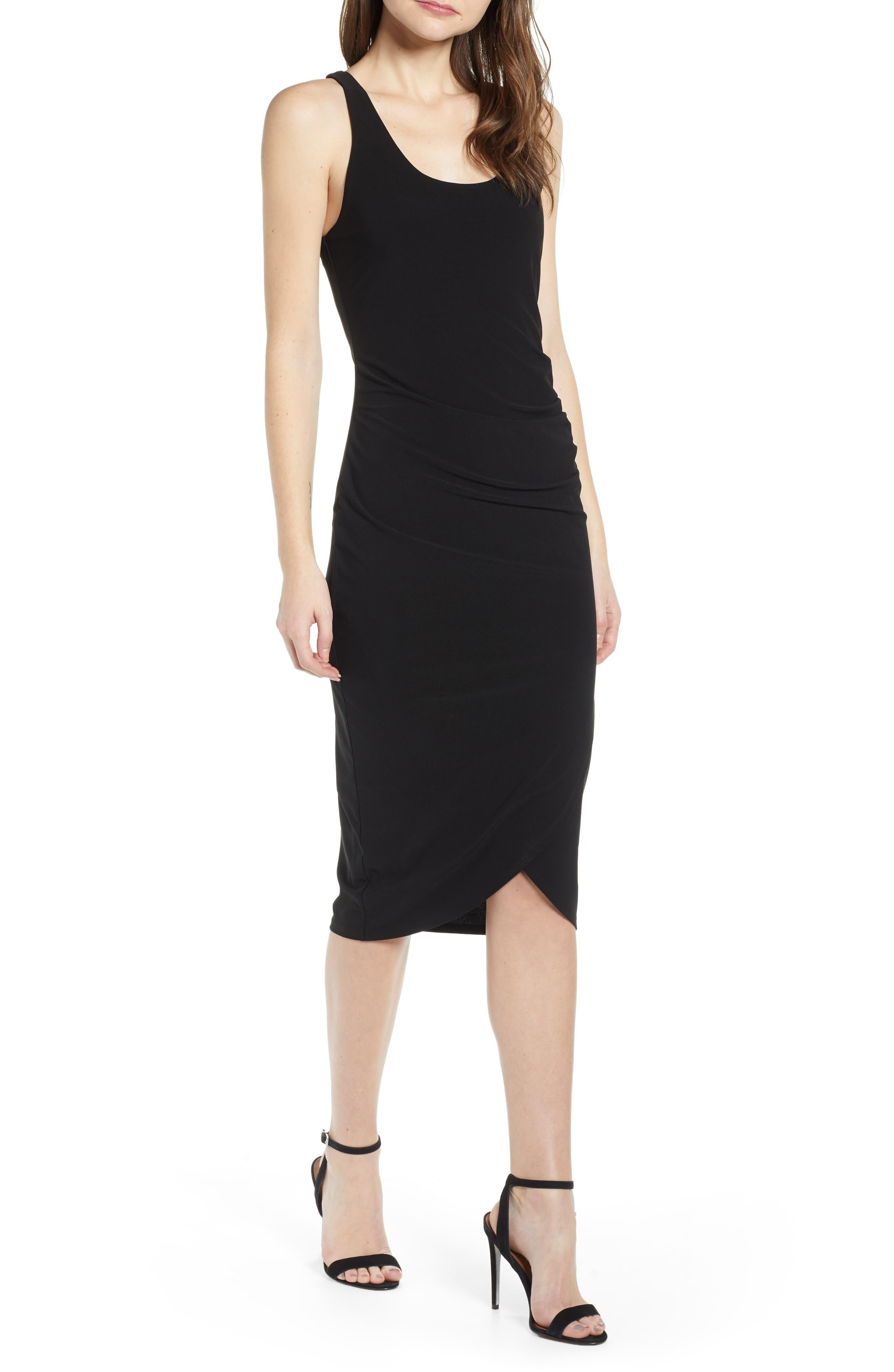 Chelsea28 Side Ruched Dress, Black