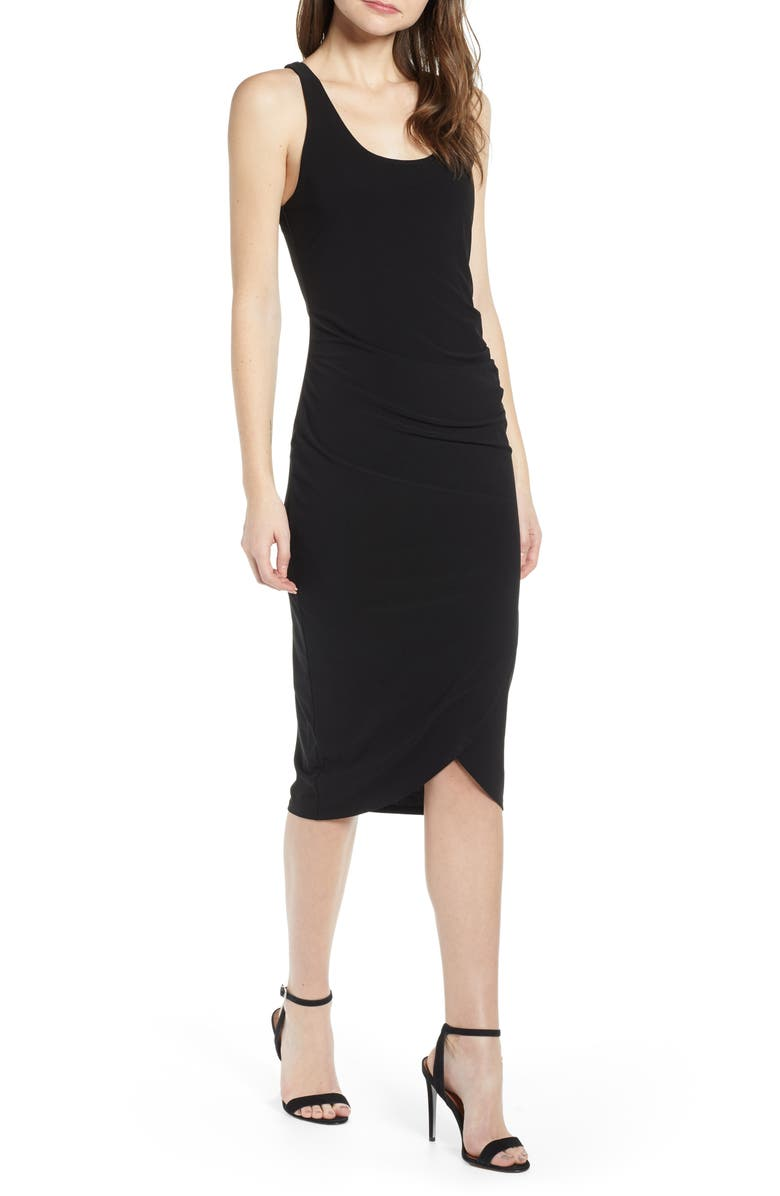 CHELSEA28 Side Ruched Dress, Main, color, 001