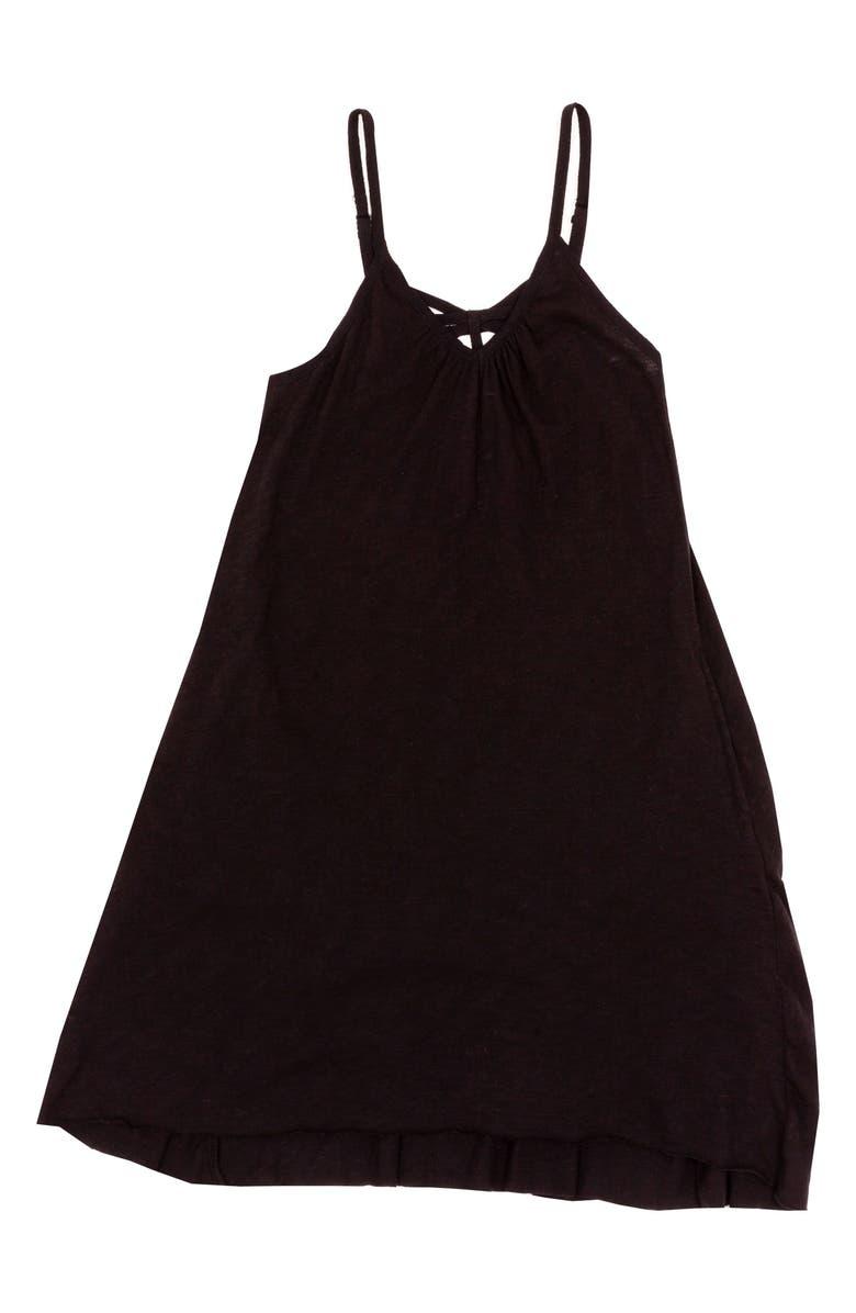 BOWIE X JAMES James Cotton Swing Dress, Main, color, BLACK