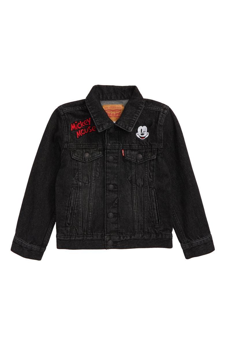 LEVI'S<SUP>®</SUP> x Disney Mickey Mouse Denim Trucker Jacket, Main, color, 010