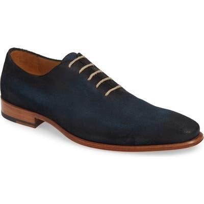Mezlan Rossini Plain Toe Whole Cut Shoe, Blue