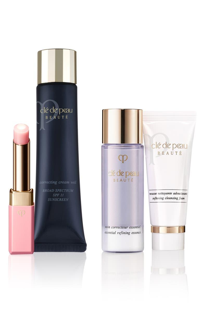 CLÉ DE PEAU BEAUTÉ Lip Glorifier & Correcting Cream Veil Set, Main, color, NO COLOR