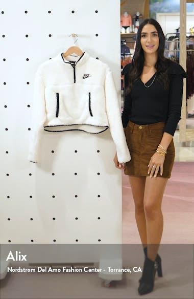 Sportswear Fleece Quarter Zip Crop Pullover, sales video thumbnail