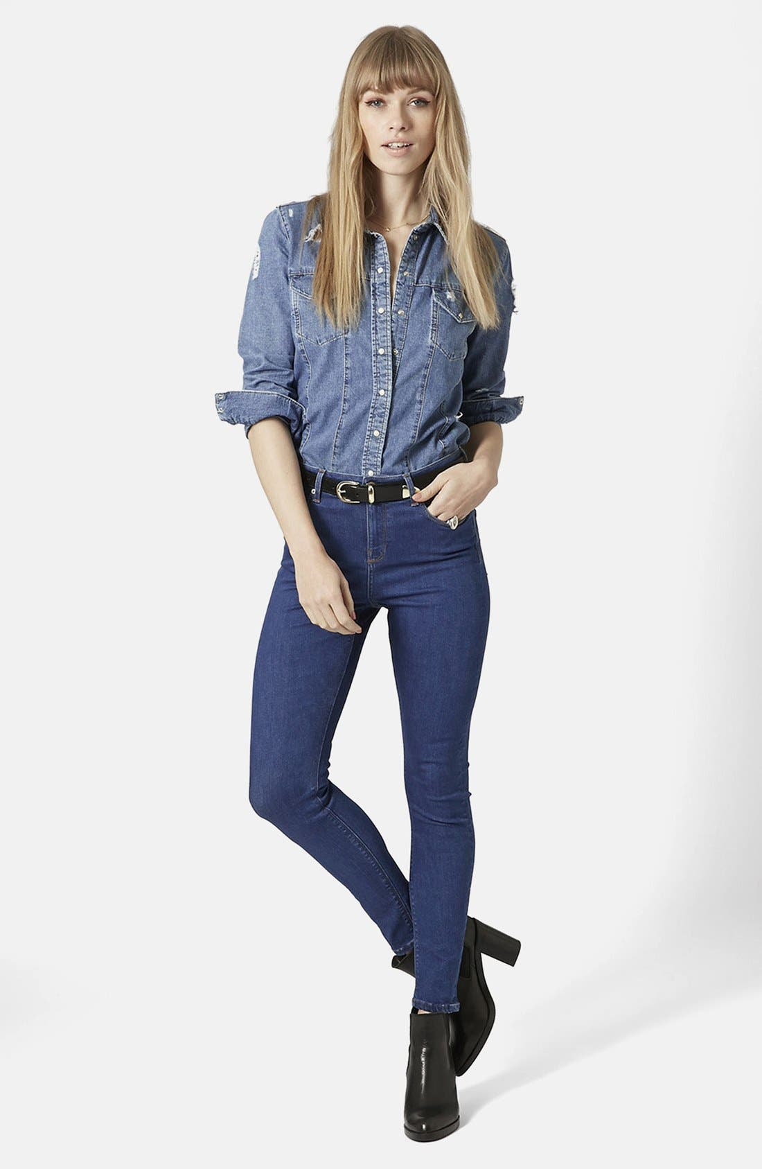 ,                             'Jamie' High Rise Crop Jeans,                             Alternate thumbnail 6, color,                             400