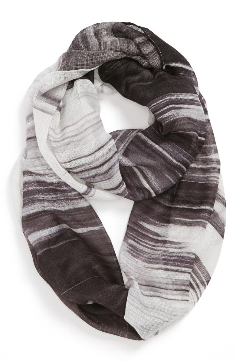 ECHO 'Painted Loops' Infinity Scarf, Main, color, 001