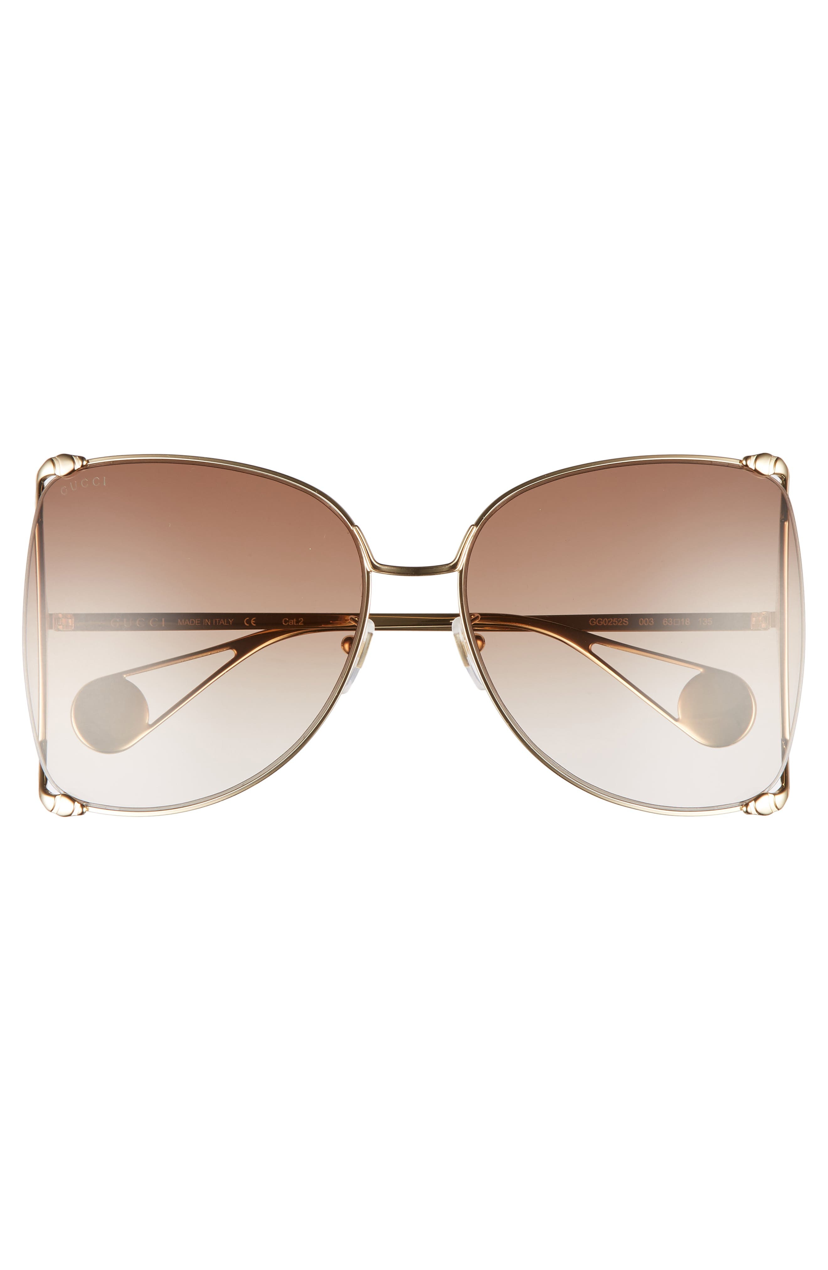 ,                             63mm Gradient Oversize Butterfly Sunglasses,                             Alternate thumbnail 6, color,                             712