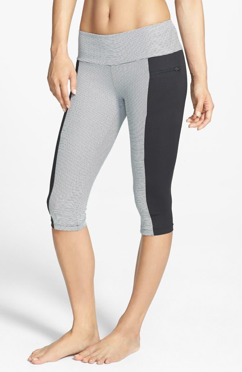 CAELUM 'Lana' Crop Leggings, Main, color, ONYX/ BLACK/ WHITE