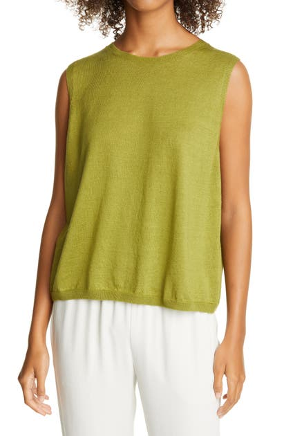 Eileen Fisher ORGANIC LINEN & ORGANIC COTTON SHELL