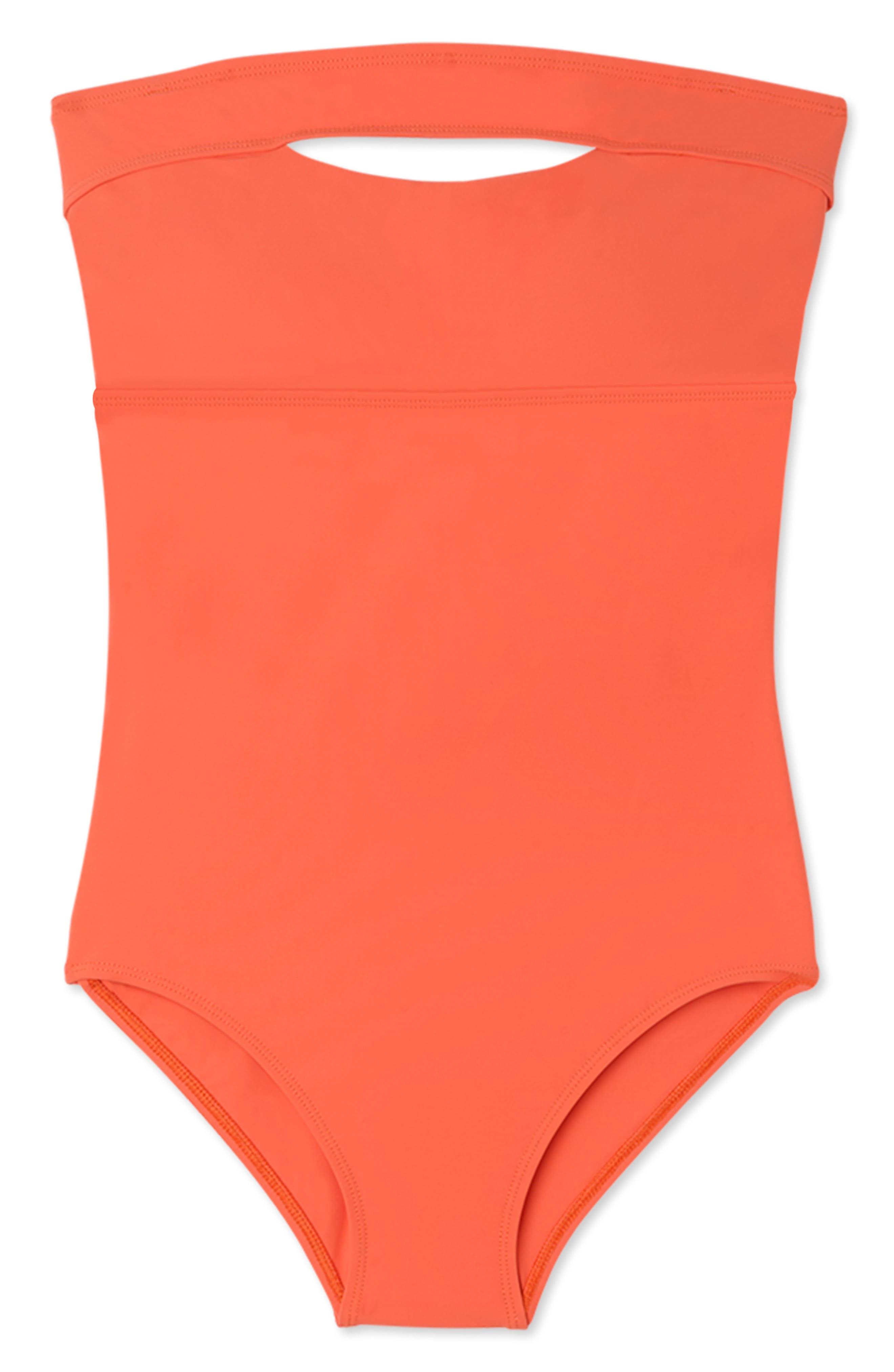 ,                             Gemma Underwire One-Piece Swimsuit,                             Main thumbnail 1, color,                             PAPAYA