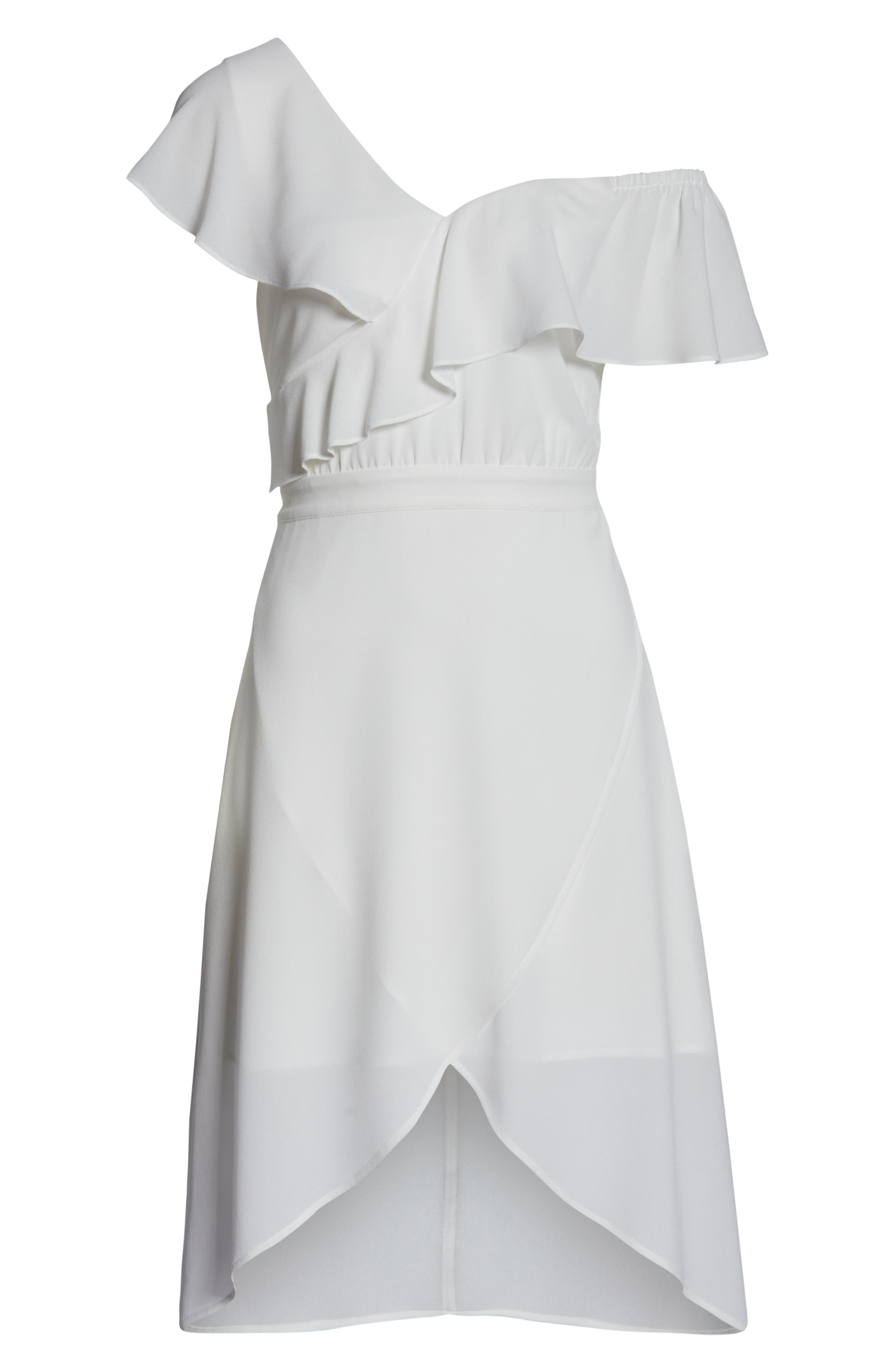 ,                             Day at the Races Chiffon Dress,                             Alternate thumbnail 7, color,                             WHITE