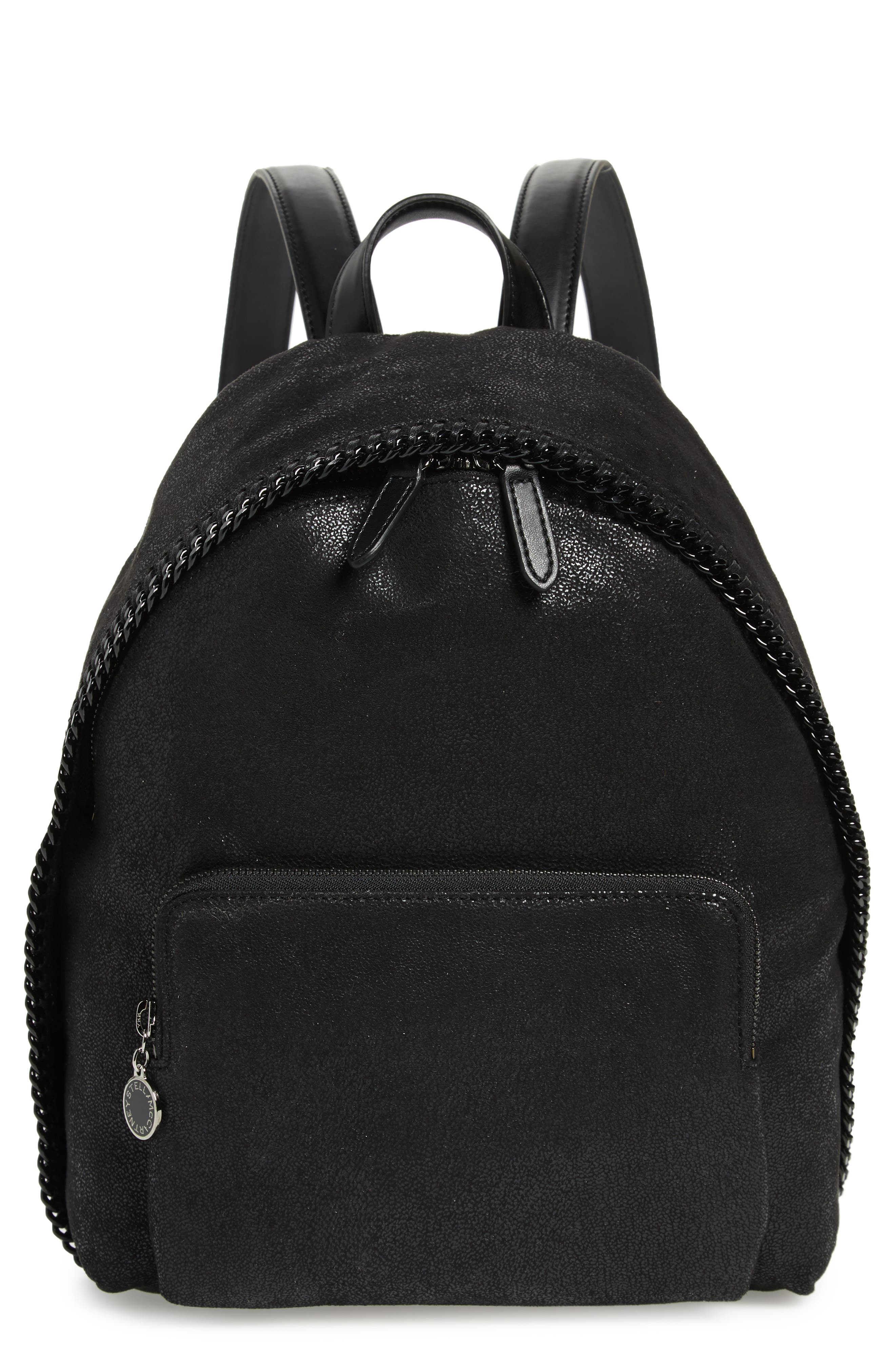 Stella Mccartney Small Falabella Faux Leather Backpack - Black