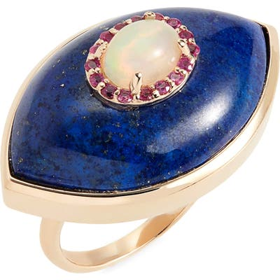 Marlo Laz Eyecon Gemstone Ring