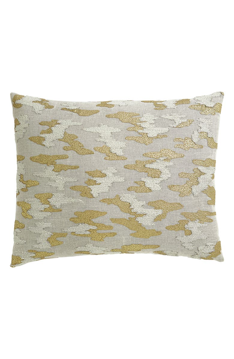 DONNA KARAN NEW YORK Mesa Embroidered Accent Pillow, Main, color, GOLD