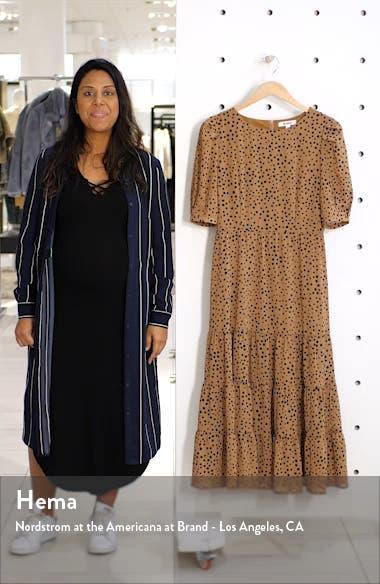 Dot Print Midi Dress, sales video thumbnail