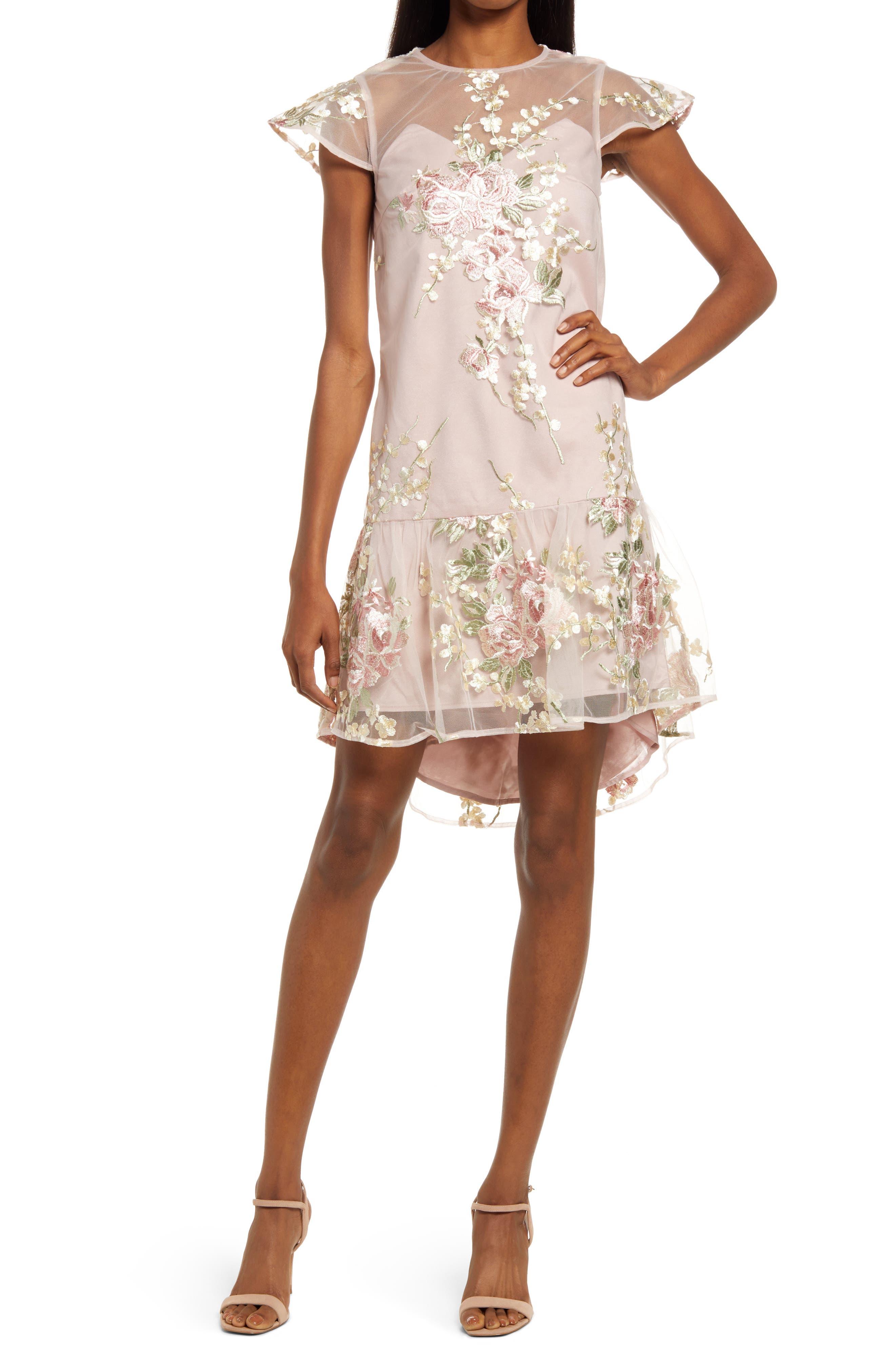 Peplum Floral Lace Minidress