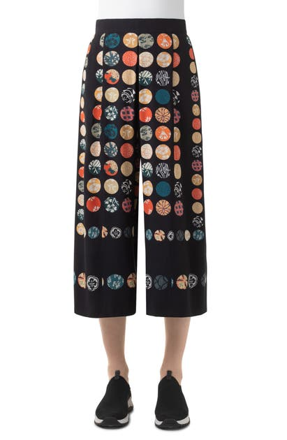 Akris Punto WOOD BLOCK DOT SILK CULOTTES
