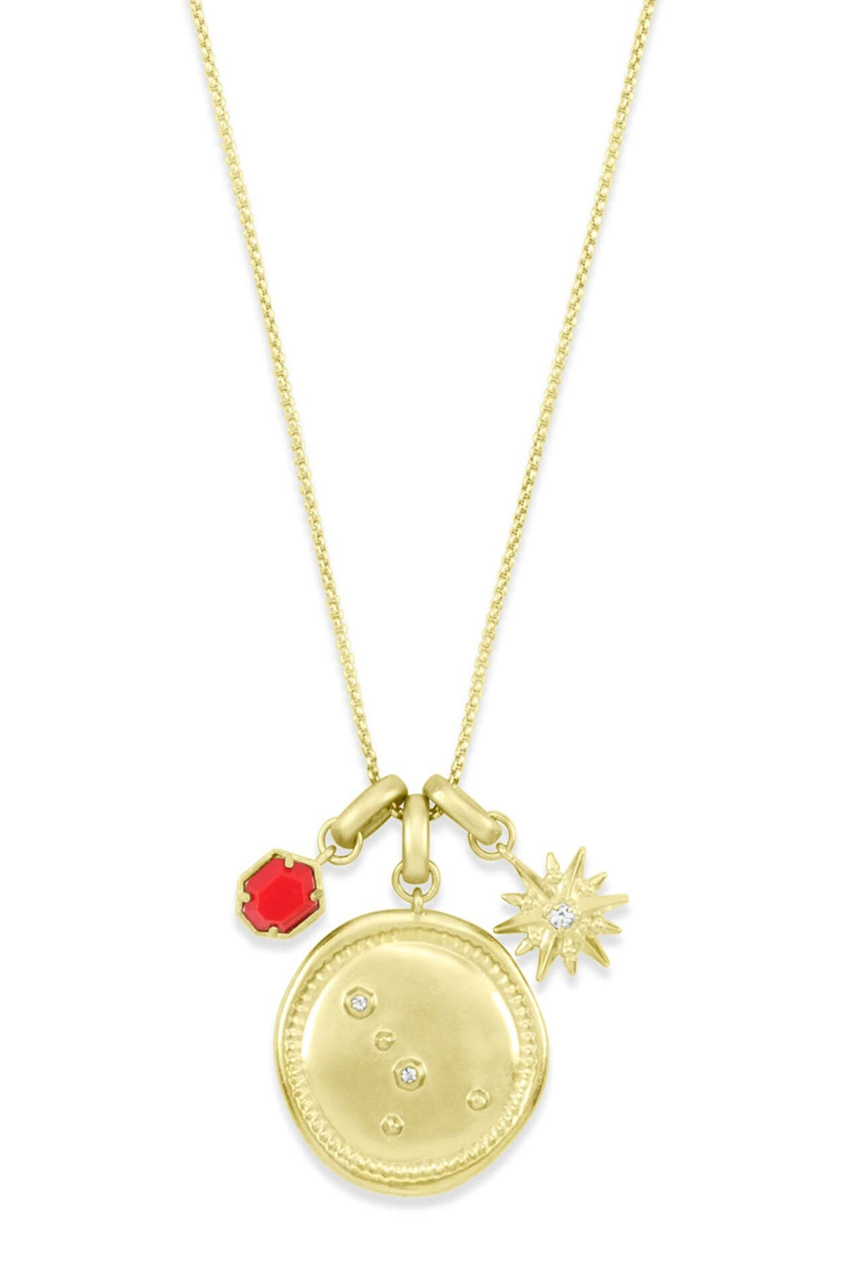 Image of Kendra Scott 14K Gold Plated Cancer Charm Necklace