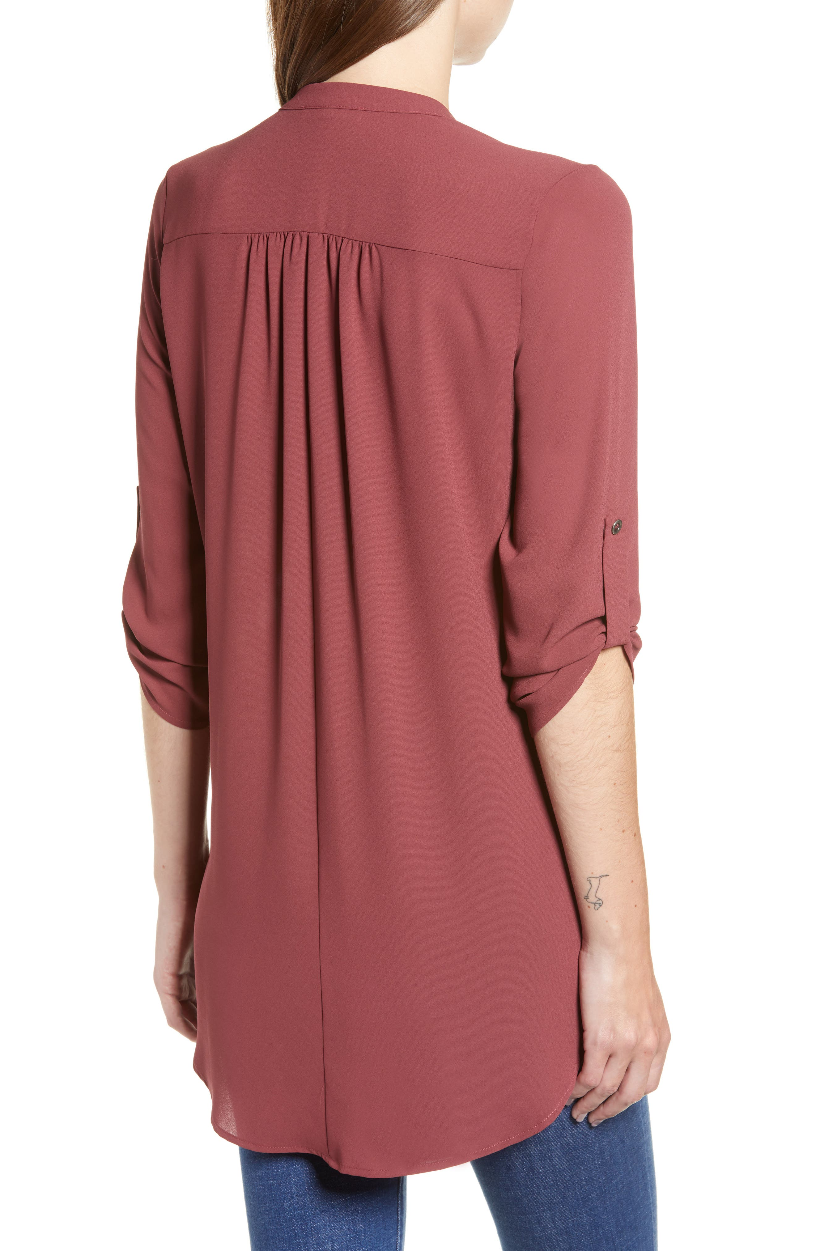 ,                             Perfect Roll Tab Sleeve Tunic,                             Alternate thumbnail 127, color,                             648