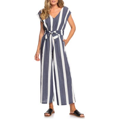 Roxy Same Old Blues Stripe Jumpsuit, Blue