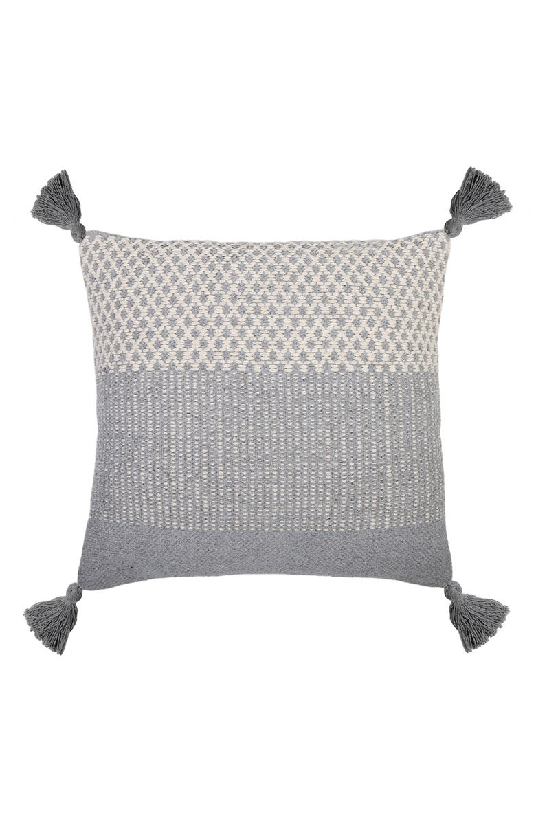POM POM AT HOME Alice Accent Pillow, Main, color, BLUE GREY