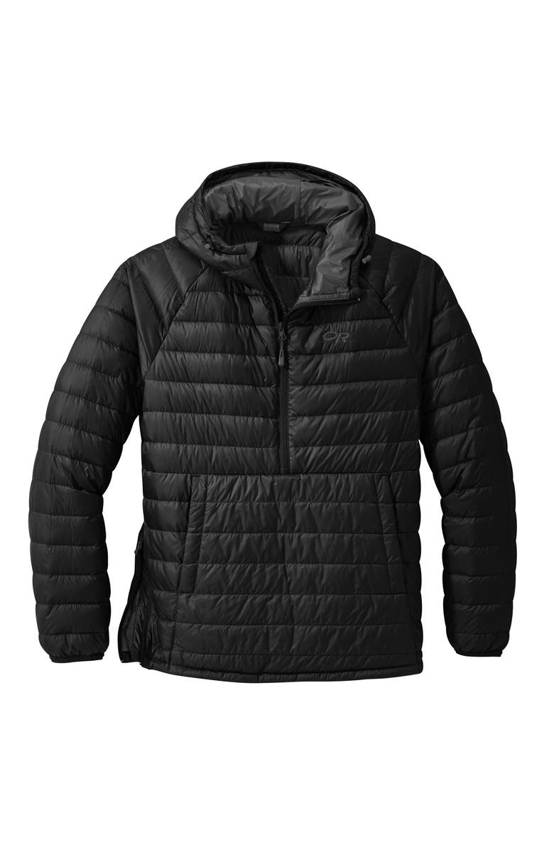 OUTDOOR RESEARCH Men's Transcendent Water Resistant 650 Fill Power Down Pullover, Main, color, Black